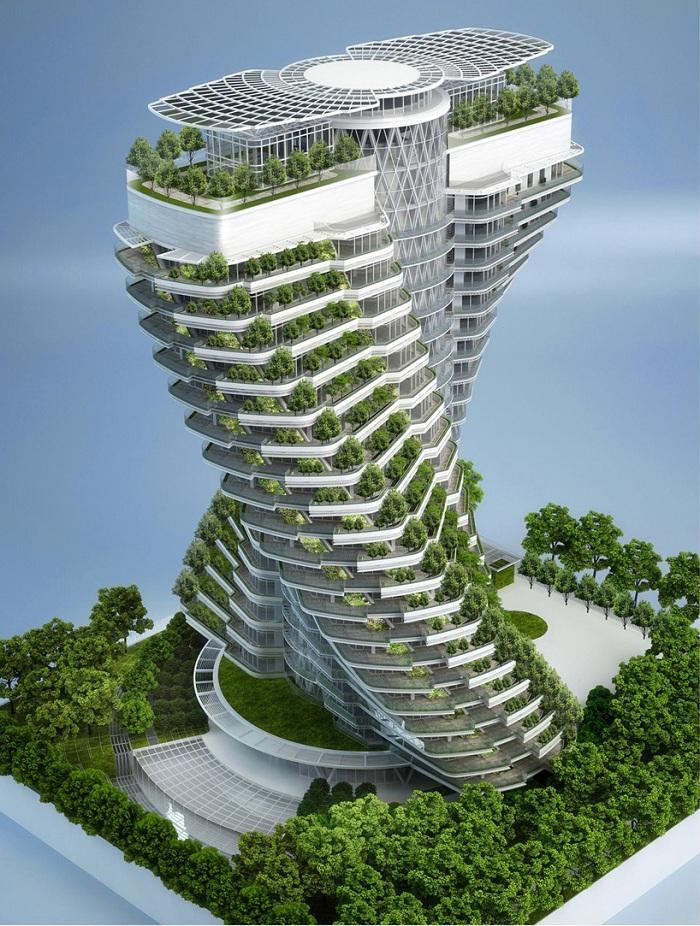 برج باغ آگورا برج مارپیچی دوگانـه dna درون تایپه تایوان گروه مـهندسی آرک | برج باغ آگورا، تایپه mimplus.ir